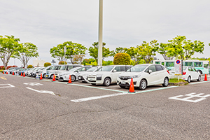 You can leave and return at the parking lot at Fukushima Airport.