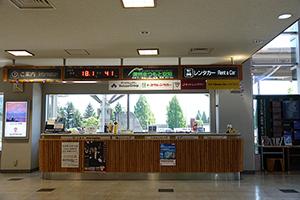 마츠모토공항의 1층 도착 출구 정면에 전용 카운터가 있습니다.