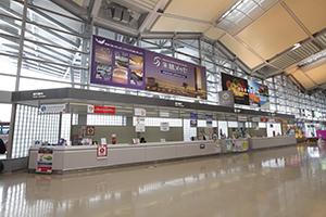 항공편으로 도착하시는 경우 니가타공항 내 주차장에서 출발하실 수 있습니다.