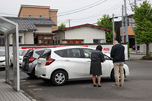 It is reassuring, because you can check your rental car with the staff before leaving.