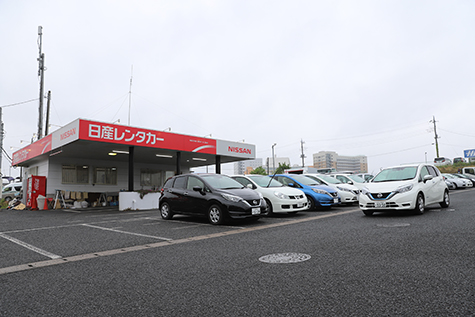 千葉の日産レンタカーの成田空港店