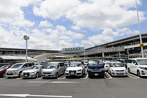 You can leave directly from the P5 Parking Lot at the airport.