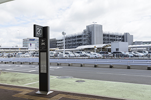 The shuttle bus from the airport to NISSAN Rent a Car Narita Airport Office is available.