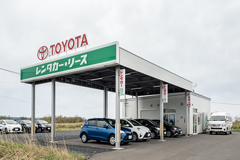 北海道のトヨタレンタカーの稚内空港店