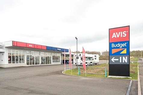 北海道のバジェットレンタカーの新千歳空港店
