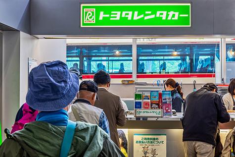福島のトヨタレンタカーの福島空港店