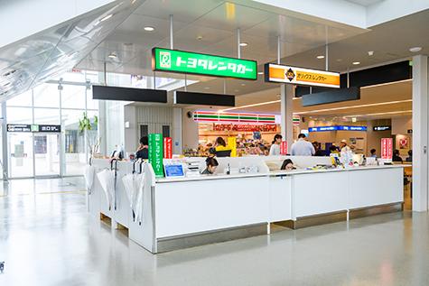福岡のトヨタレンタカーの北九州空港受付カウンター