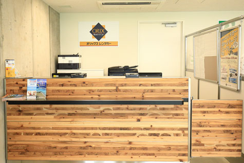 沖縄のオリックスレンタカーのみやこ下地島空港ターミナル店