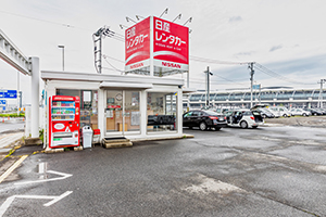 It takes about 2 minutes from Sendai Airport by shuttle bus.